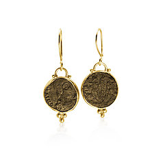 Ancient Roman Coin Earrings by Nancy Troske (Gold Earrings)