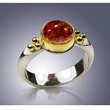 Winter Solstice Ring by Nancy Troske (Gold, Silver & Stone Ring)