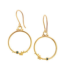 Bubbling Brook Earrings by Nancy Troske (Gold & Stone Earrings)
