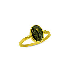 Fortuna Ancient Intaglio Ring by Nancy Troske (Gold & Stone Ring)
