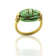Egyptian Scarab Ring by Nancy Troske (Gold & Silver Ring)