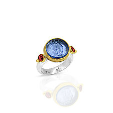 The Lovers Ring by Nancy Troske (Gold, Silver & Stone Ring)