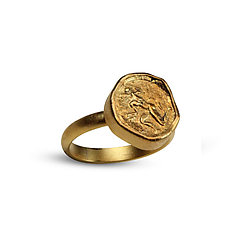 Greek Satyr Ring by Nancy Troske (Gold & Silver Ring)