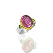 Angel Ring by Nancy Troske (Gold, Silver, & Stone Ring)