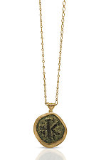 Ancient Greek Coin Necklace by Nancy Troske (Gold Necklace)