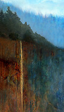 Misty Mountain Falls by LuAnn Ostergaard (Color Photograph)
