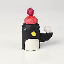 Snowball Penguins by Hilary Pfeifer (Wood Sculpture)