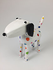 Rainbow Dalmatian by Hilary Pfeifer (Wood Sculpture)