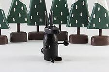 Winter Forest Scene Animals by Hilary Pfeifer (Wood Sculpture)