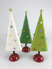 Oh Christmas Trees by Hilary Pfeifer (Wood Sculpture)