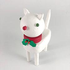 Christmas Kitties by Hilary Pfeifer (Wood Sculpture)