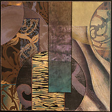 Blue Moons Variations No.2 by Karen McCarthy (Mixed-Media Collage)