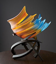 Hemisphere: Tropicale by Brian Russell (Art Glass Sculpture)