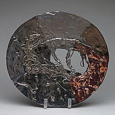 Metallic and Copper Plate by Lois Sattler (Ceramic Platter)