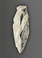 Titanium and Bone White Wall Hanging by Lois Sattler (Ceramic Wall Sculpture)