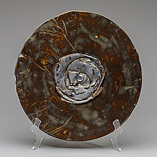 Bronzed Plate with Heirloom Silver by Lois Sattler (Ceramic Platter)