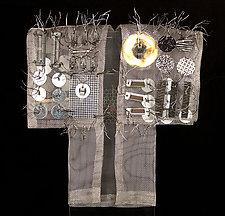Silver Circuit Kimono by Susan McGehee (Metal Sculpture)