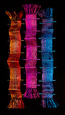 Chroma Zig Zag by Susan McGehee (Metal Wall Sculpture)