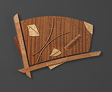 Heading by Mark Del Guidice (Wood Wall Sculpture)