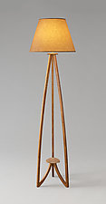 Triad Lamp by Mark Del Guidice (Wood Floor Lamp)