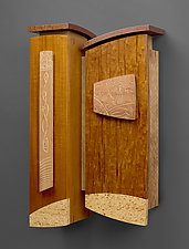 Either Way by Mark Del Guidice (Wood Wall Cabinet)