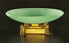 Monkey Bowl by Georgia Pozycinski and Joseph Pozycinski (Art Glass & Bronze Sculpture)