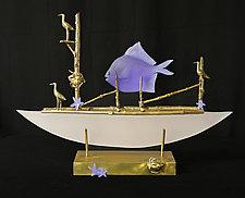 Neptune's Dream by Georgia Pozycinski and Joseph Pozycinski (Art Glass & Bronze Sculpture)
