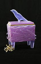 Swallow Nest Box by Georgia Pozycinski and Joseph Pozycinski (Art Glass & Bronze Sculpture)