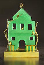 The Green House I by Georgia Pozycinski and Joseph Pozycinski (Art Glass & Bronze Sculpture)