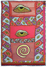 Eyes For You by Therese May (Fiber Wall Hanging)