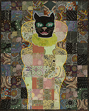 Aboriginal Cat by Therese May (Fiber Wall Hanging)