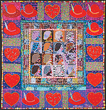 Hearts and Hats by Therese May (Fiber Wall Hanging)