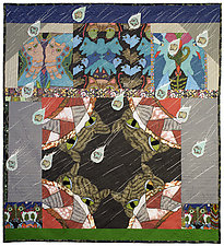 Prayer for Raining Cats and Dogs by Therese May (Fiber Wall Hanging)