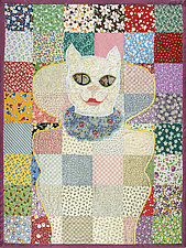 Charm Pack Cat by Therese May (Fiber Wall Hanging)