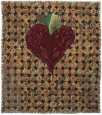 Heart Beet by Therese May (Fiber Wall Hanging)