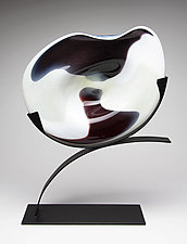 Winter by Janet Nicholson and Rick Nicholson (Art Glass Sculpture)