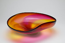 Sunrise Wave Bowl II by Janet Nicholson and Rick Nicholson (Art Glass Bowl)