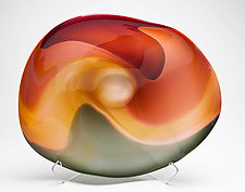 Landscape Bowl by Janet Nicholson and Rick Nicholson (Glass Sculpture)