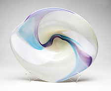 Ribbon Platter by Janet Nicholson and Rick Nicholson (Art Glass Sculpture)