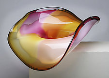 Sunrise Sculptural Bowl by Janet Nicholson and Rick Nicholson (Art Glass Sculpture)