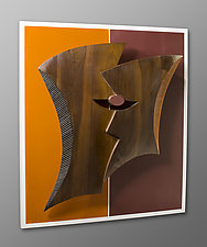 Two Heads Are by Erik Wolken (Wood Wall Sculpture)