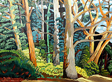 Trees in Tiden Park by Bruce Klein (Acrylic Painting)