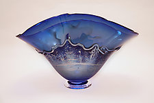 Silver Sea by Dierk Van Keppel (Art Glass Bowl)