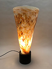 Torch by Dierk Van Keppel (Art Glass Table Lamp)