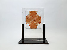 Sienna Float Casting by Dierk Van Keppel (Art Glass Sculpture)
