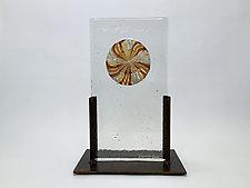 Gold Float Casting by Dierk Van Keppel (Art Glass Sculpture)