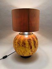 Warm Glow by Dierk Van Keppel (Mixed-Media Table Lamp)