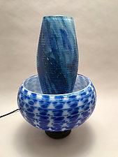 Lotus Lamp by Dierk Van Keppel (Art Glass Table Lamp)