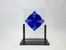 Azure Float Casting by Dierk Van Keppel (Art Glass Sculpture)
