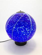 Cobalt Globe Light by Dierk Van Keppel (Art Glass Table Lamp)